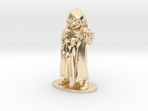 Dungeon Master Miniature in 14k Gold Plated: 1:55