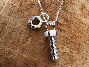 Bolt Pendant (Fits with the Screw Pendant) in Polished Silver
