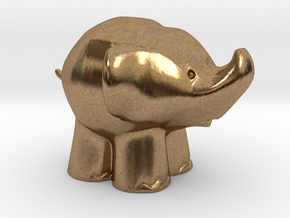 Cute Elephant in Natural Brass: Extra Small