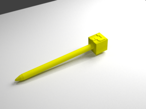 Mystery box stylus in Yellow Processed Versatile Plastic