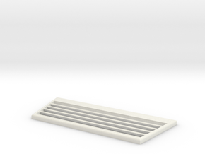 TRX-4 Radiator Grill v4 in White Natural Versatile Plastic
