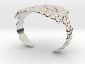 Owl Cuff Bracelet in Rhodium Plated Brass