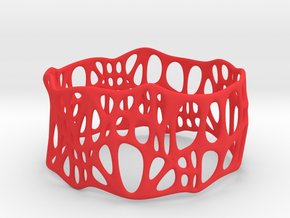 Voronoi Dodecagonal Bracelet 40mm (004) in Red Processed Versatile Plastic
