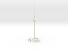Berliner Fernsehturm (1:2000) in White Natural Versatile Plastic