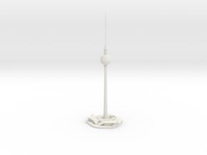 Berliner Fernsehturm (1:2000) in White Natural Versatile Plastic