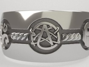 All religions ring 12s in Natural Silver