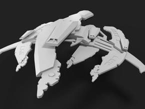 Galactic Warship in White Natural Versatile Plastic