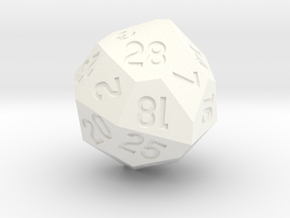 d28 with 4-fold rotational symmetry in White Strong & Flexible Polished