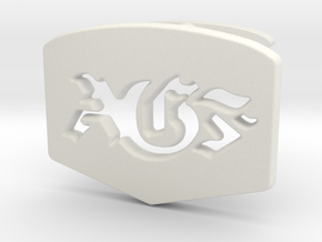 AGF cufflinks in White Natural Versatile Plastic