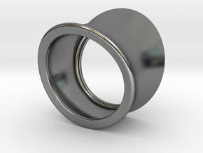 silver PLAIN ring in Polished Silver