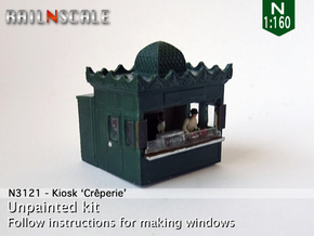 Kiosk Crêperie (N 1:160) in Smooth Fine Detail Plastic