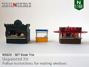 SET Kiosk Trio (N 1:160) in Smooth Fine Detail Plastic