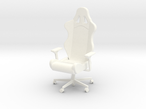Armchair with armrests in White Strong & Flexible Polished