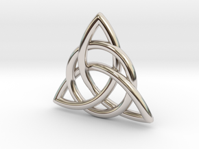 Celtic Knot in Rhodium Plated Brass