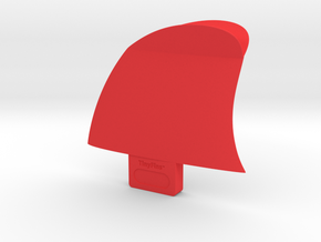"TinyFins Split Y 2"" fc in Red Processed Versatile Plastic"