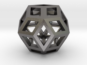 Rhombic Triacontahedron Steel in Polished Nickel Steel