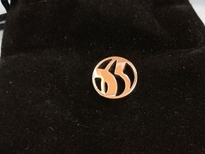 pendant no 65 in 14k Rose Gold Plated