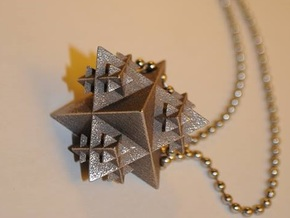 Tetrahedron Fractal Pendant in Stainless Steel