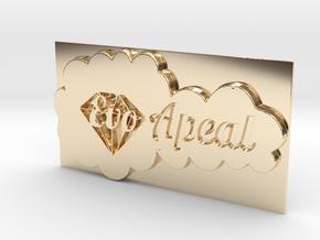 Evo Apeal Pendant in 14K Gold