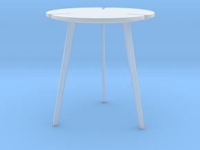 Miniature Flying Flower Pedestal Table - Roche Bob in Smooth Fine Detail Plastic: 1:12