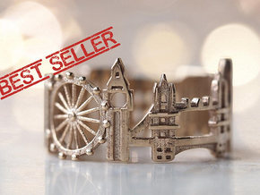 London Ring - Best Seller Gift! in Polished Silver: 5 / 49