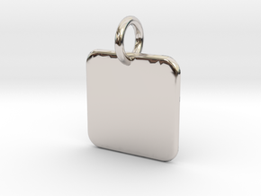 Cannivest Square Label Templete in Rhodium Plated Brass