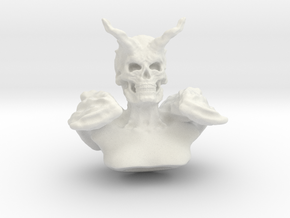 Demonic Bust in White Natural Versatile Plastic