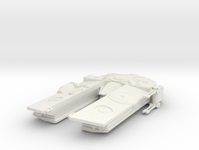 Corellian Freighter in White Natural Versatile Plastic
