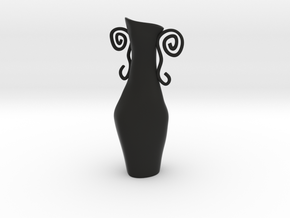 Surreal Vase in Black Natural Versatile Plastic