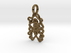 Sea Cucumber Larva Pendant in Natural Bronze