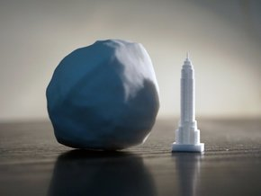 101955 Bennu & Empire State Building  in White Natural Versatile Plastic