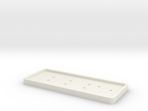 4449 Number plate base in White Natural Versatile Plastic