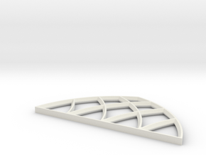 28mm Scale Large Gothic Arch Window in White Natural Versatile Plastic