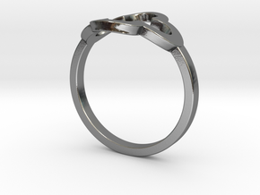 Clover Ring in Polished Silver