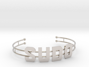 SUDO bracelet in Rhodium Plated Brass