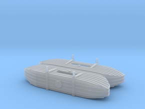 1/87th (H0) scale Pontoons for V-3 Straussler in Smooth Fine Detail Plastic