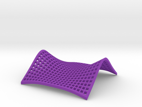 Saddle Point in Purple Processed Versatile Plastic: Small