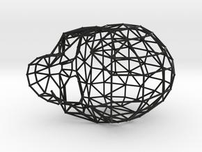 Skull Wireframe in Black Strong & Flexible: Medium