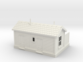 LB43 Leek Brook Junction Station (with partition) in White Natural Versatile Plastic