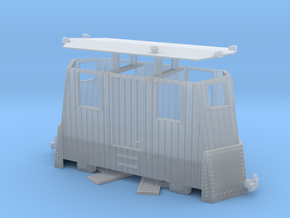 SN1 2-axle H0e / 009 snowplow in Smooth Fine Detail Plastic