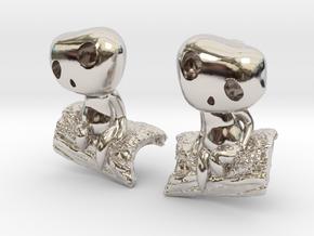 Forest Spirit Earrings in Platinum