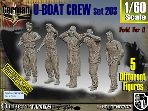 1/60 German U-Boot Crew Set203 in Smooth Fine Detail Plastic