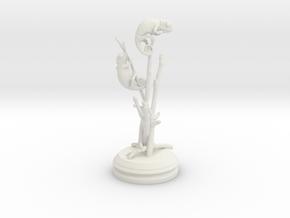 Chameleon desktop display in White Natural Versatile Plastic: Medium