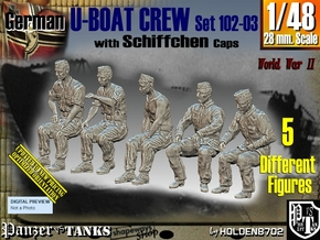 1/48 German U-Boot Crew Set102-03 in Smooth Fine Detail Plastic