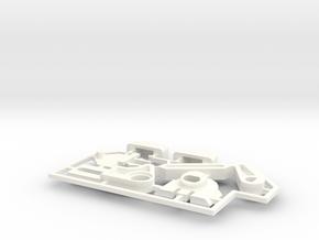 Lancia Delta rep. set VAR5 Instrument frame in White Processed Versatile Plastic