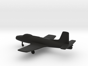 Fokker S.14 Machtrainer in Black Natural Versatile Plastic: 1:200