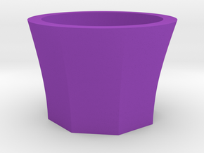 Succulent and air plant pot in Purple Processed Versatile Plastic