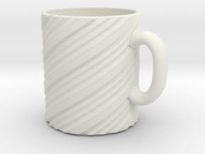 Twisty mug in White Natural Versatile Plastic