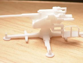 1/144 12,8 cm AA Gun German Wehrmacht in White Natural Versatile Plastic