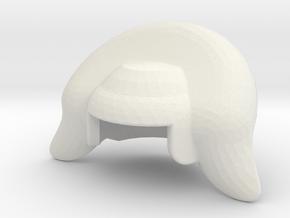 MINIFIG BULBOUS BUFFANT WIG in White Natural Versatile Plastic